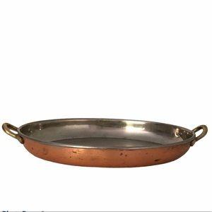 """COPPER bottom classic casserole dish 12"""" x 8"""""""